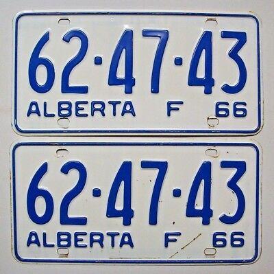 Alberta 1966 pair License plates