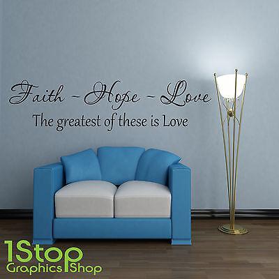 Fe Esperanza Amor Frase En Una Calcamonía Mural Salón