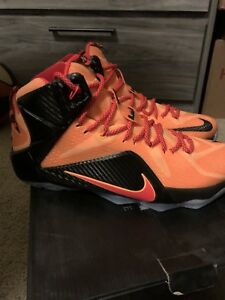 new product f569e c6d9e Details about Nike Lebron 12 Laser Orange Cavs
