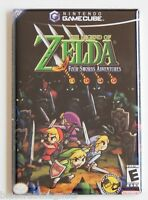 Legend of Zelda Four Swords FRIDGE MAGNET (2 x 3 inches) video game box
