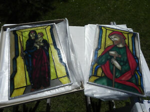 Glasbilder-mit-Zinnrahmen-Maria-mit-Kind-und-Josef-30x45