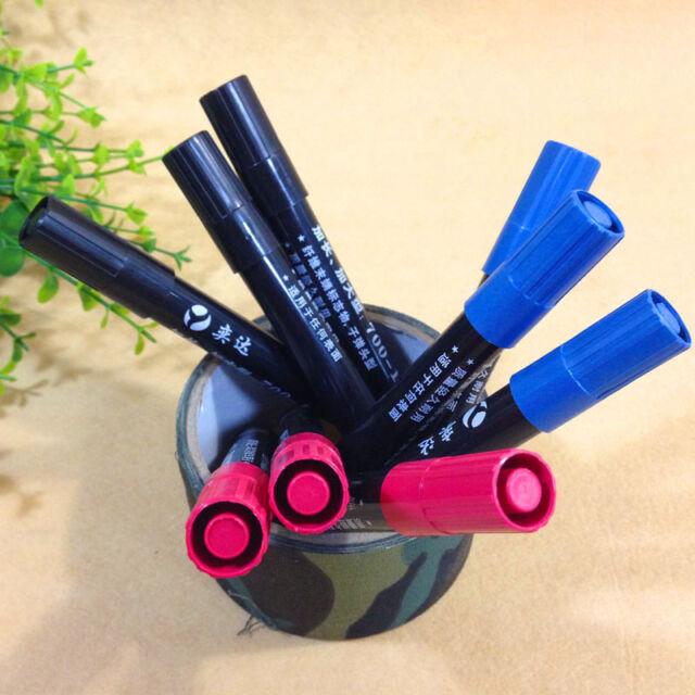 Waterproof Permanent Oil Based Paint Marker Pen Medium Point 700-1 blk red blue