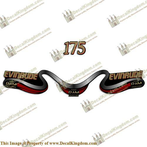 Evinrude 175 Decal ROT Kit - ROT Decal 1477a1