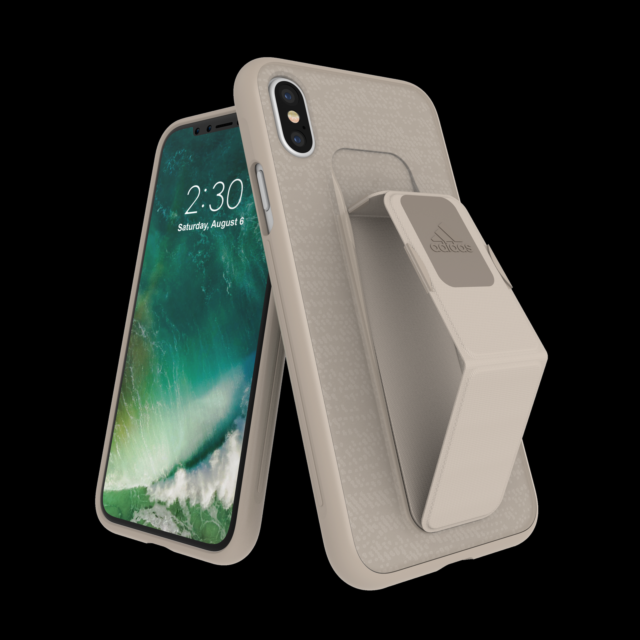 info for e5c76 0e4ad adidas Performance Grip Case for Apple iPhone X - Sesame for sale ...