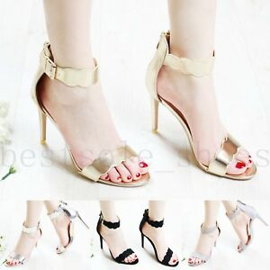 Womens-Ladies-Party-High-Heel-Sandals-Stiletto-Ankle-Strap-Evening-Out-Shoes