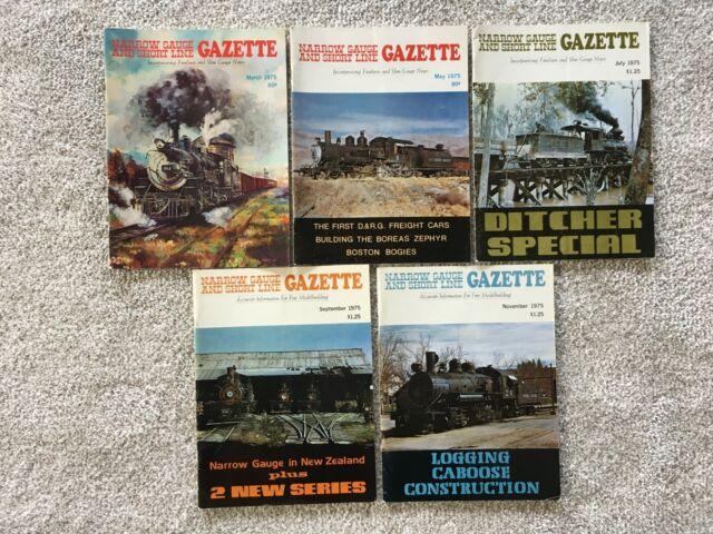 NARROW GAUGE AND SHORT LINE GAZETTE, 1975 5 ISSUES