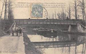 CPA 02 CHEVREGNY CANAL DE L'AISNE A L'OISE ENTREE DU TUNNEL