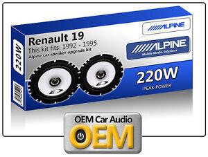 RENAULT 19 Vordertür Lautsprecher Satz Alpine Autolautsprecher 220W max.