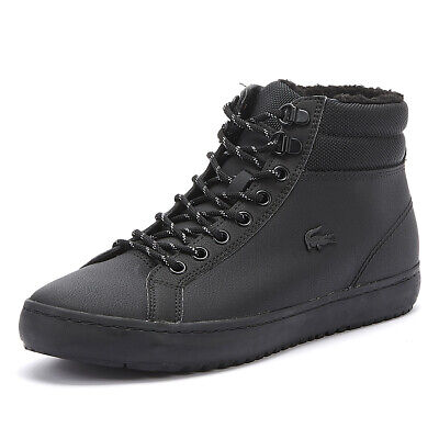lacoste straightset thermo 419 2 mens black boots casual