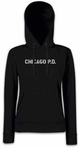 Chicago Montauk Donna Hoodie con Cappuccio Pullover Police Department Hank Voight simbolo