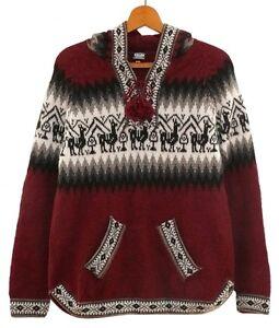 wolethno Alpaca trui patroon rode wijn smlxlxxlPeru rood maat alpaca lama MzLVqSUpG