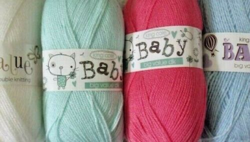 100gm boules Baby nuances. King Cole Big Value Baby Double Tricot
