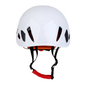 Safety-Rock-Climbing-Caving-Tree-Arborist-Construction-Helmet-Hard-Hat-White