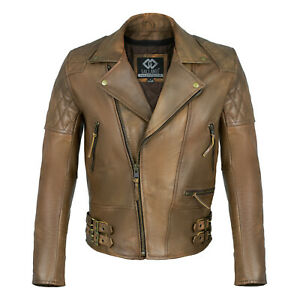 Classic-Diamond-Motorcycle-Biker-Brown-Distressed-Vintage-Leather-Jackets-Armour