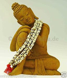 Totenkopf-Mala-034-Handgearbeitet-034-Nepal-Bein-Partyschmuck-Schmuck-Asien-2c