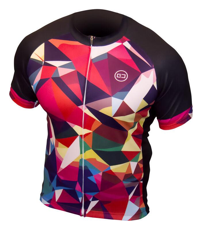 Cycling Jersey Top - Retro Funky Design Biking Clothing