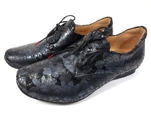 Details zu THINK Chilli natur Leder Schuhe Halbschuhe schwarz grau effect NEU 149,95