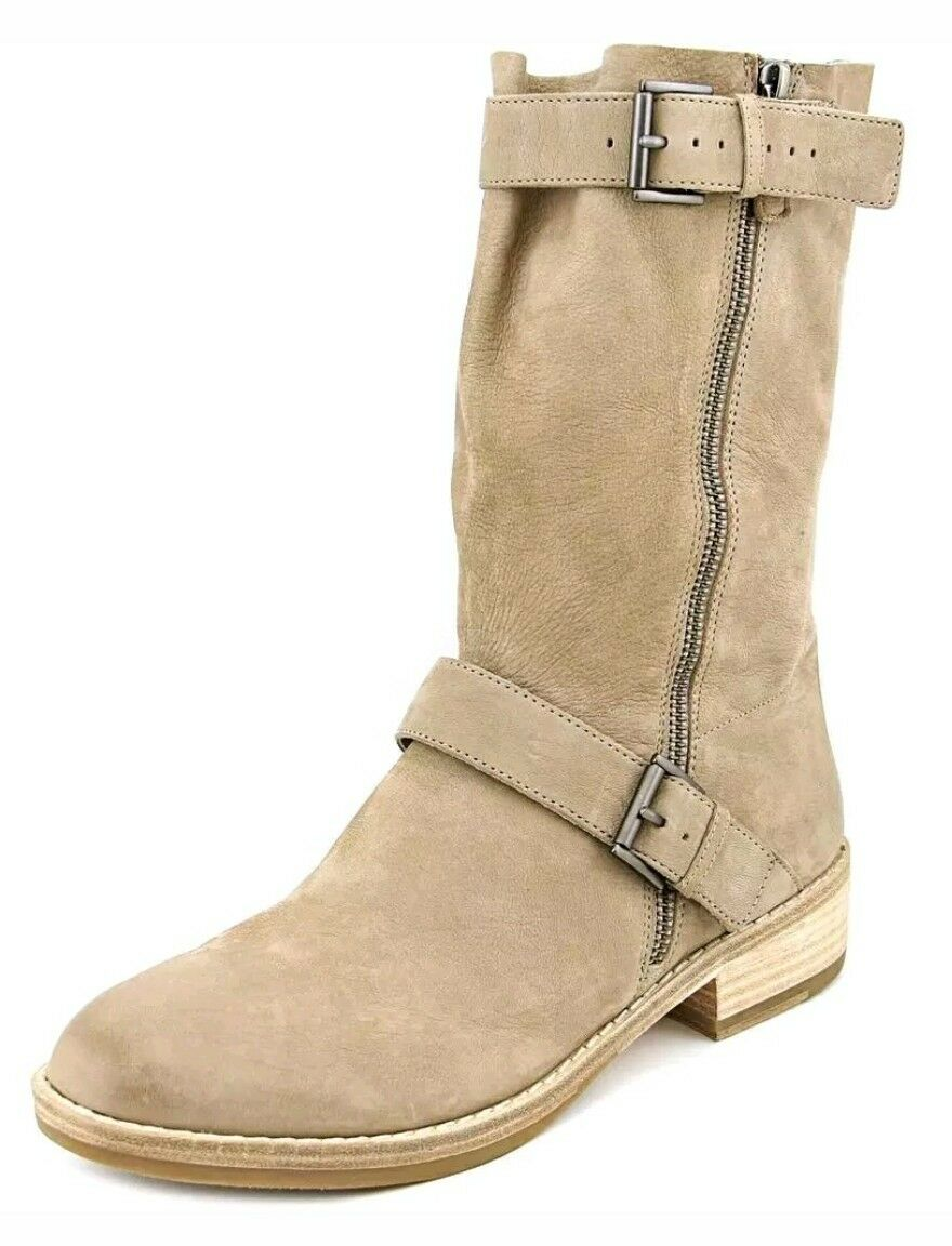Eileen Fisher Log Women US 10 Nude Mid Calf Boot  Biker Boot Shoe  2017 325