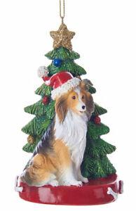 Sheltie Christmas Tree Ornament | eBay