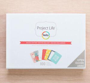 Project Life Mini Kit Dazzle 100 Cards 732637 Jen Hadfield Ebay