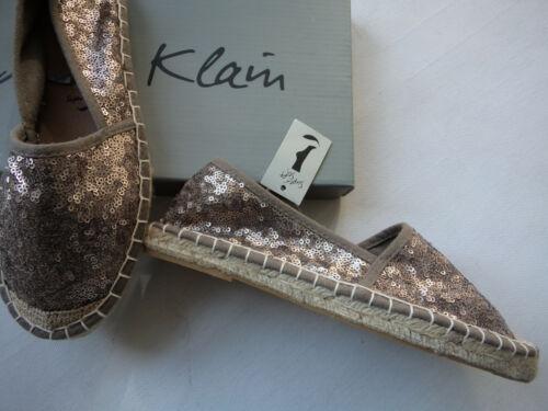 NEU Jane Klain Espadrilles mit Pailetten in gold+super soft Ausstattung Gr 37+40
