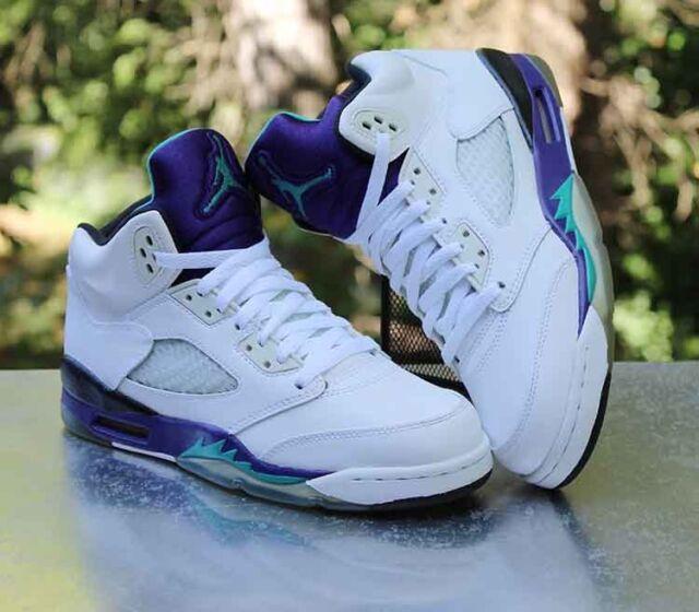 huge selection of 0a84f 0b185 Air Jordan 5 Retro GS  Grape  2013 White 440888-108 Size 6Y WMNS