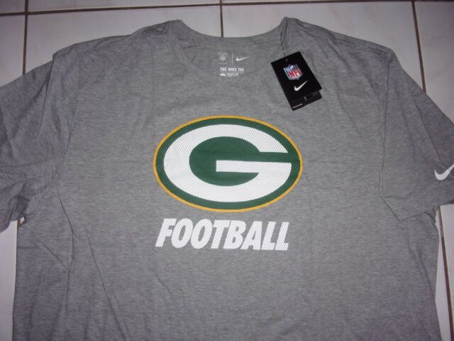 pretty nice 96839 3bb80 New NIKE NFL GREEN BAY PACKERS Shirt Men Size XXXL or 3XL *Gray