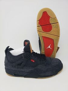 super popular 0f777 ef2be Details about Levi's x Air Jordan 4 Retro Black Denim DS Mens Size 13 With  Box