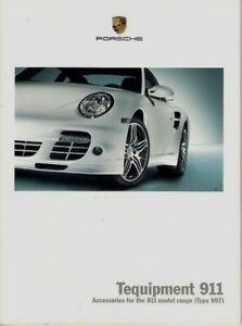 Details about Porsche 911 Tequipment Accessories 2007,08 UK Market Sales  Brochure 997