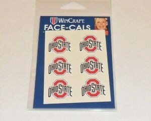 OHIO-STATE-BUCKEYES-6-TEMPORARY-FACE-TATTOOS-FACE-CALS-FAST-FREE-SHIPPING