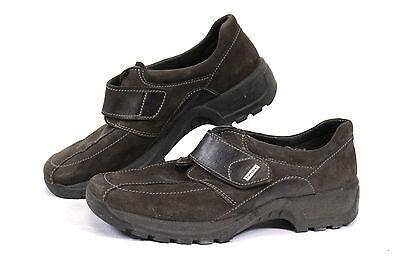 bequeme EASY RIDER Damen Halbschuhe Velour-Leder Gr 38 UK 5 Outdoor Sneaker