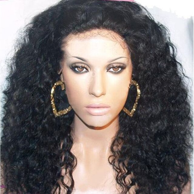 lace front wig lace wig 100% indian remy human hair curly wave weave full wigs