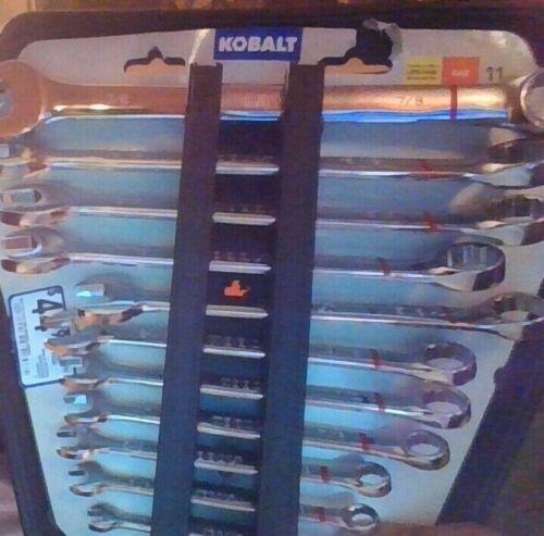 SAE Standard Combination Wrench Set new Kobalt 11-Piece Set 12-Point Standard