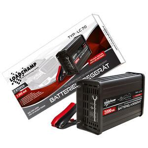 Loadchamp 7A 12V automatisches Batterie Akku Ladegerät AGM GEL CALCIUM Vlies