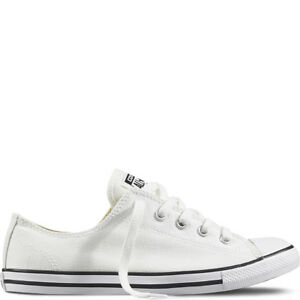 5016c53ed7a0 New Womens Converse All Star Chuck Taylor Dainty White Canvas Ox UK ...
