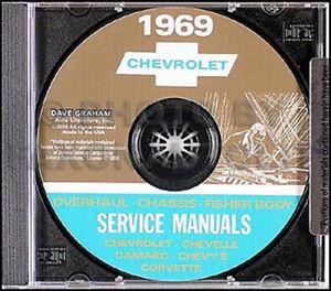 1969 Chevy CD Shop Manual Bel Air Impala Nova    Camaro