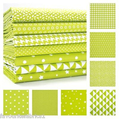 MONO GEOMETRICS - LIME GREEN - 150cm WIDE 100% COTTON FABRIC PATCHWORK FASHION