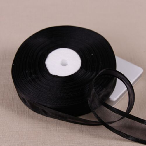 "25 mm 1/"" 50 yards//Lot ORGANZA rubans gros Cadeau Emballage Décoration"