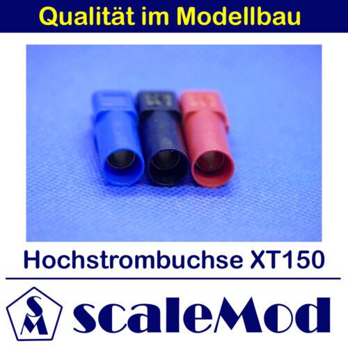 scaleMod Hochstrombuchse XT150 3Stk je 1x blau, schwarz, rot