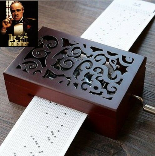DIY Hand-cranked Music Box  With Hole Puncher  ♫ THE GODFATHER  ♫