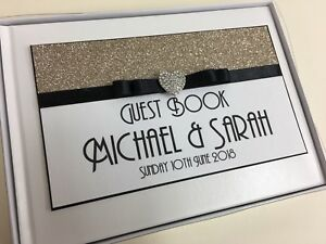 GLITTER-WEDDING-GUEST-BOOK-PERSONALISED-DIAMANTE-HEART-GUEST-BOOK