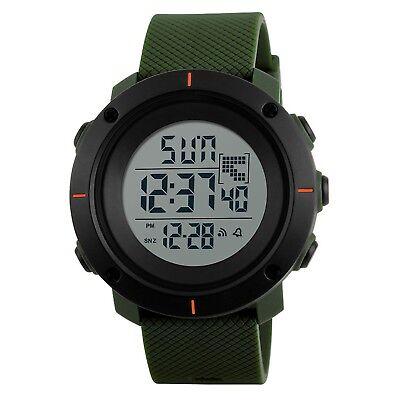SKMEI Hombre Digital LED Dual Time Waterproof Military Sport reloj de pulsera