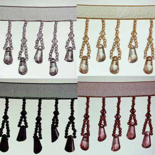 Black #11 Organza Bell Shape beaded Trimming Fringe Colour