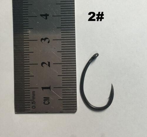 1000x Extra Wide Gape with Curved Shank /& Off Set Point-Teflon Coated Carp Hooks