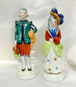 Vintage Occupied Japan Hand Painted Man And Women Figurines Ebay