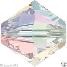 SWAROVSKI 5328 XILION Bicone Beads 6mm: crystal ab 2x (20 Perline)
