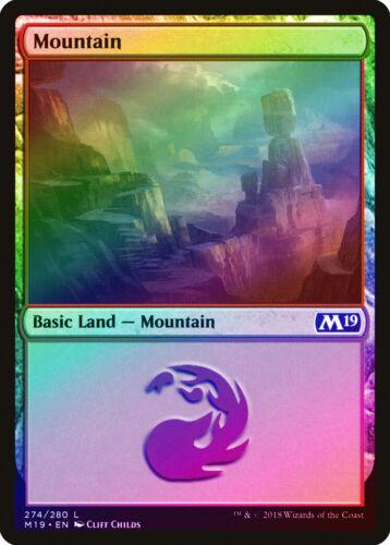 M19 NM Basic Land MAGIC MTG CARD ABUGames 274 Mountain FOIL Core Set 2019