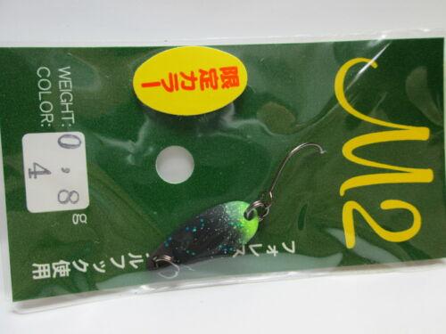 1521 FOREST M2 0.8g Original Limited Color Trout Spoon color variations