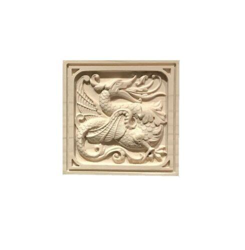 Solid Hardwood carved Rosette Casing Blocks