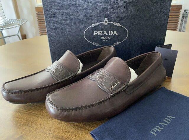Loafers PRADA Men Leather Blue